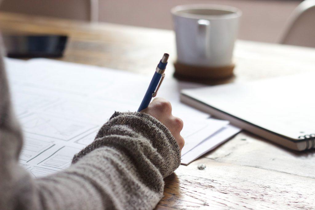 Handwriting On Desk