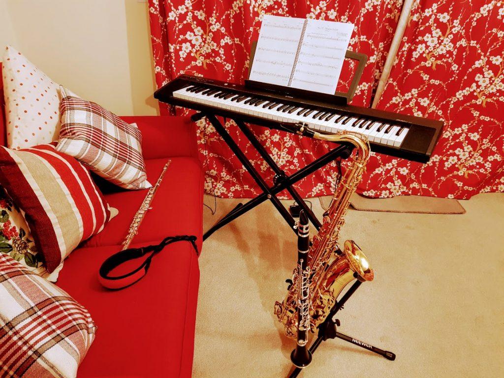 Piano Sax Clarinet Flute