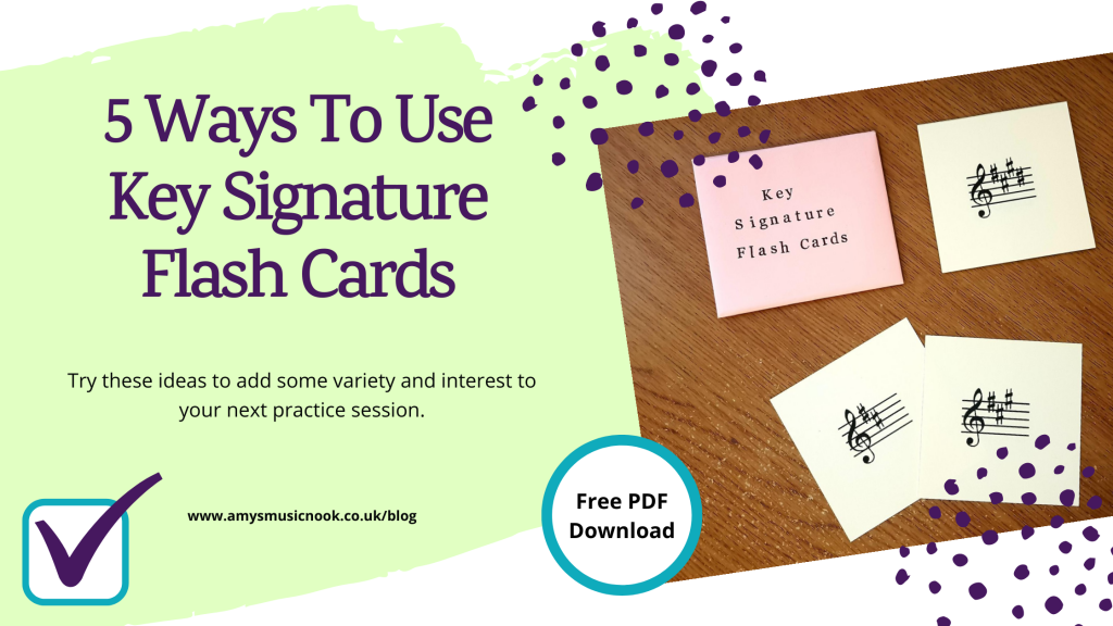 Five Ways To Use Key Signature Flash Cards Image