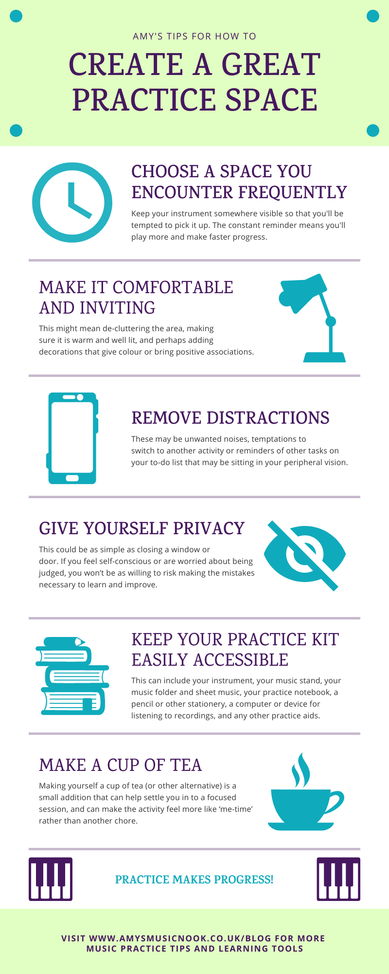 Create A Great Practice Space Infographic