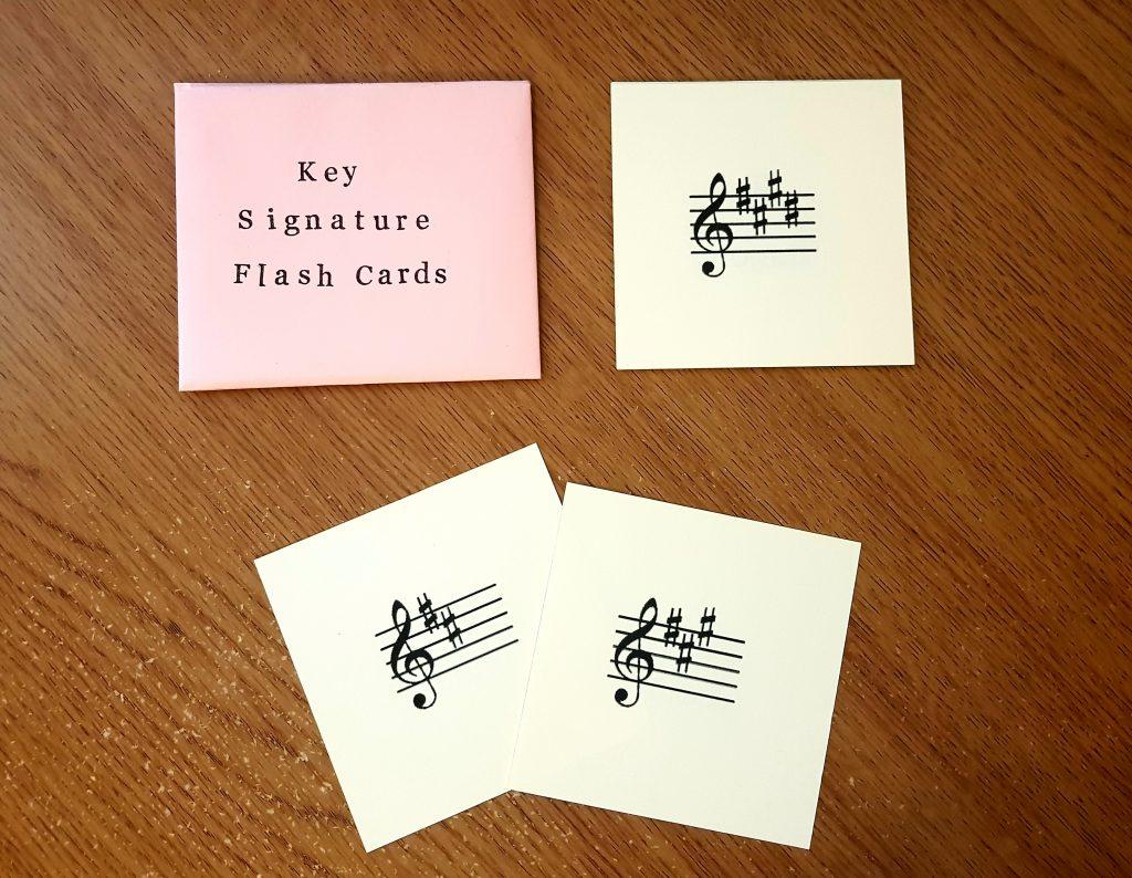 Key Signature Flash Cards Image