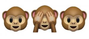Monkeys Covering Eyes Image