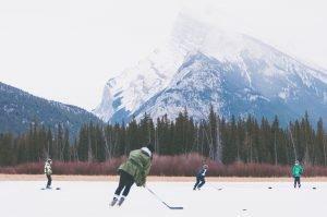 Image of children's ice hockey game