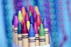 Image of coloured crayons.