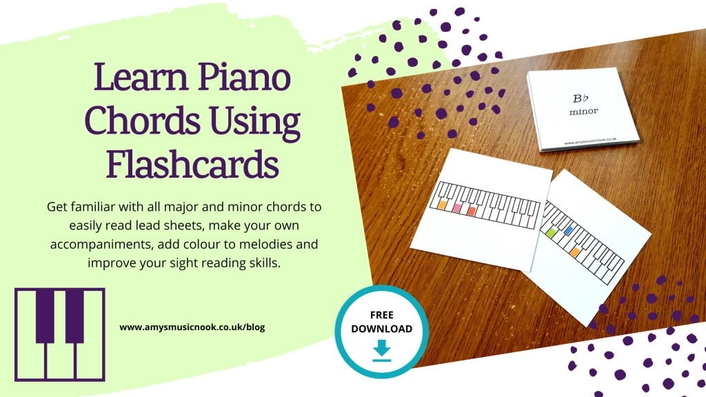 Learn Piano Chords Using Flash Cards