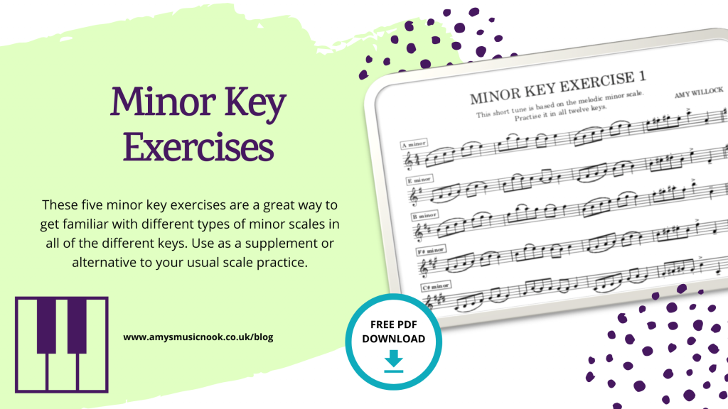 Minor Key Exercises Title Image
